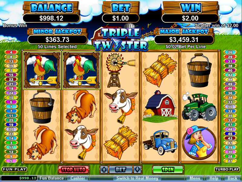free play slot games triple twister